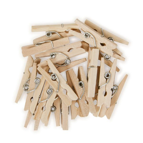 Mini wooden pegs - pack of 30