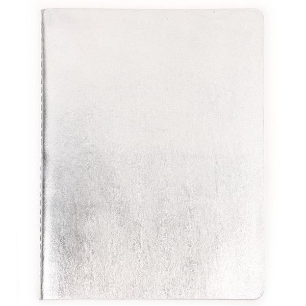 Silver leather exercise book