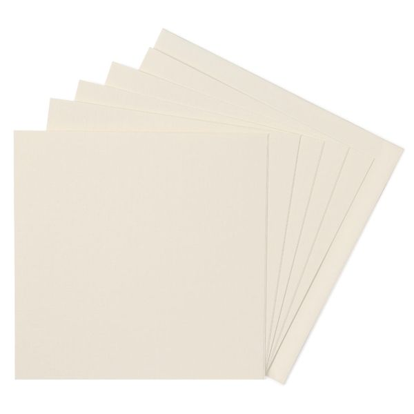 Paperworks linen ivory square cards and envelopes - pack of 10