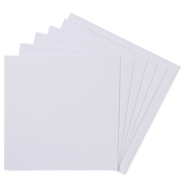 Paperworks laid white square cards and envelopes - pack of 10