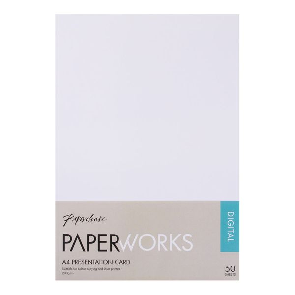 Paperworks A4 presentation card - pack of 50