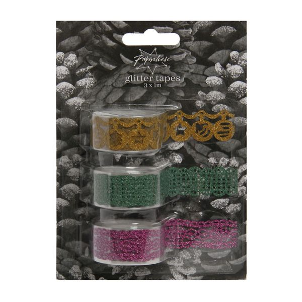 Glitter lace tapes - set of 3