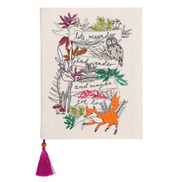 Woodland Tails hand-stitched notebook