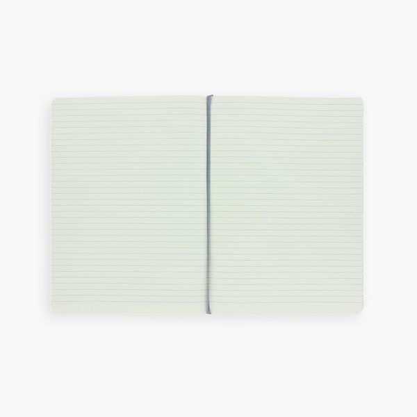 Agenzio Large Lined Notebook - Grey