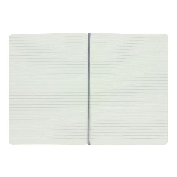Agenzio large grey ruled notebook
