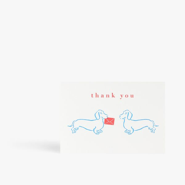 Thank you sausage dogs card