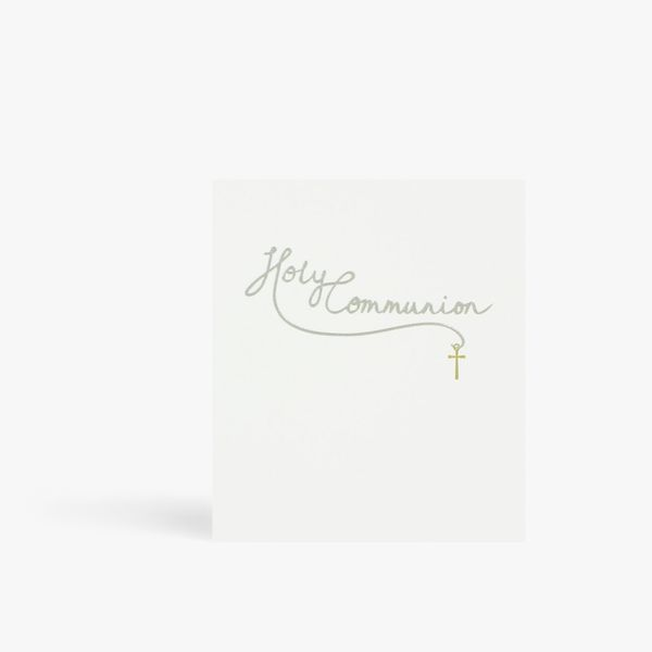 Silver text Holy Communion card