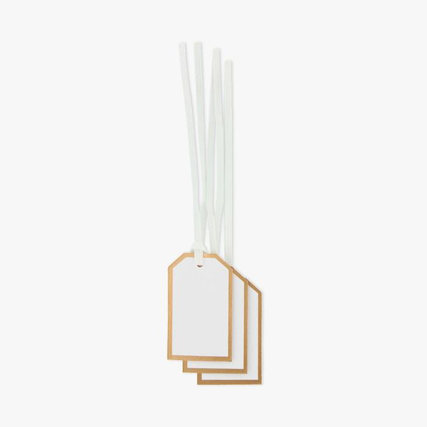 White and bronze mini gift tags - set of 10