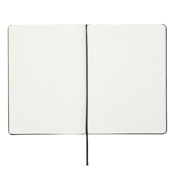 Agenzio black dotted large notebook