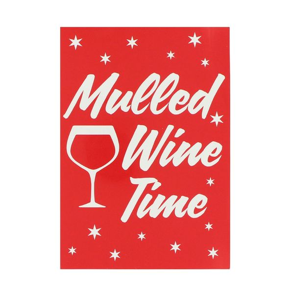 Mulled wine time Christmas postcard