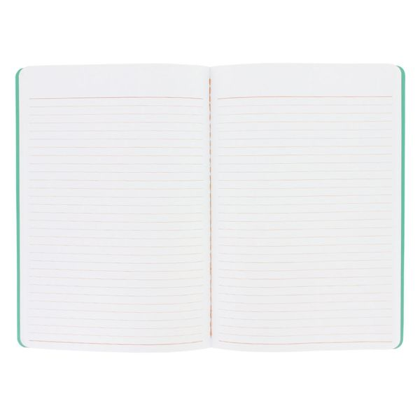 Green lined A5 exercise book