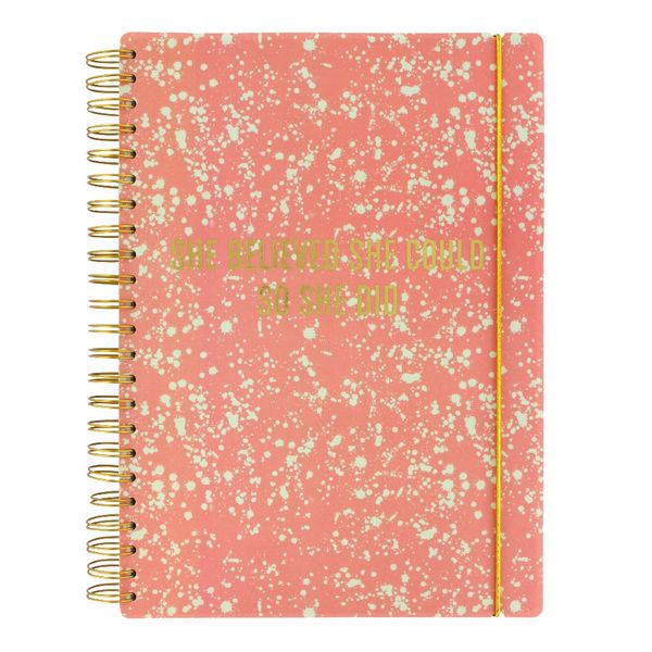 A4 She believed she could slogan lined notebook
