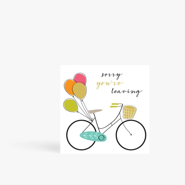 XL Sorry You're Leaving Card