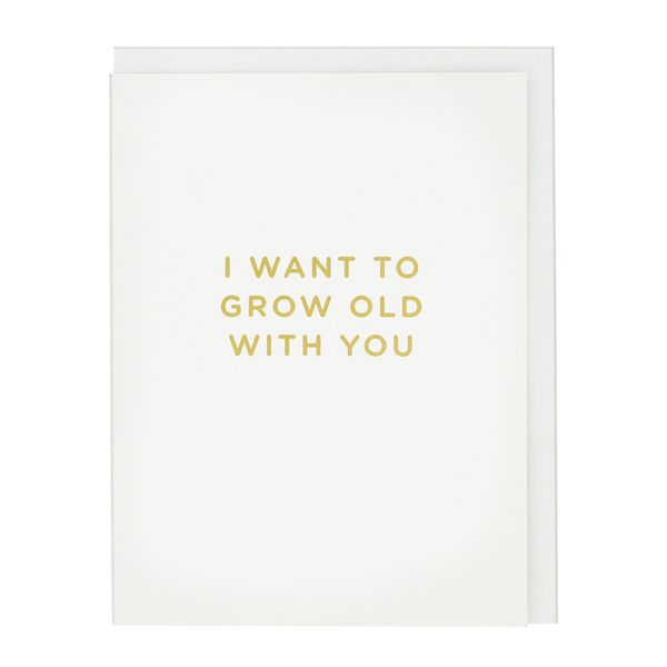 Grow old with you Valentine's card
