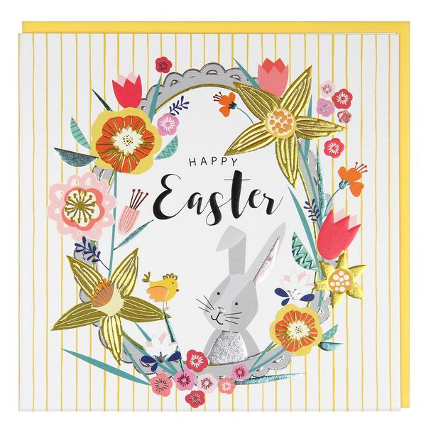 Bunny and chick Easter card