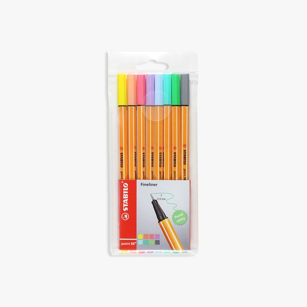 STABILO point  88 Pastel fineliner wallet of 8 assorted colours