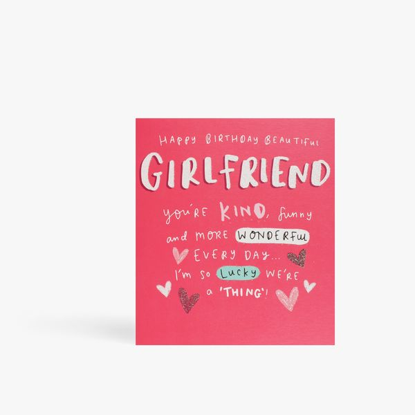 Emily Coxhead We're a thing girlfriend birthday card