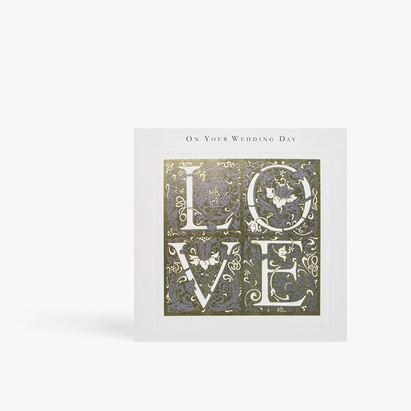On your wedding day love card