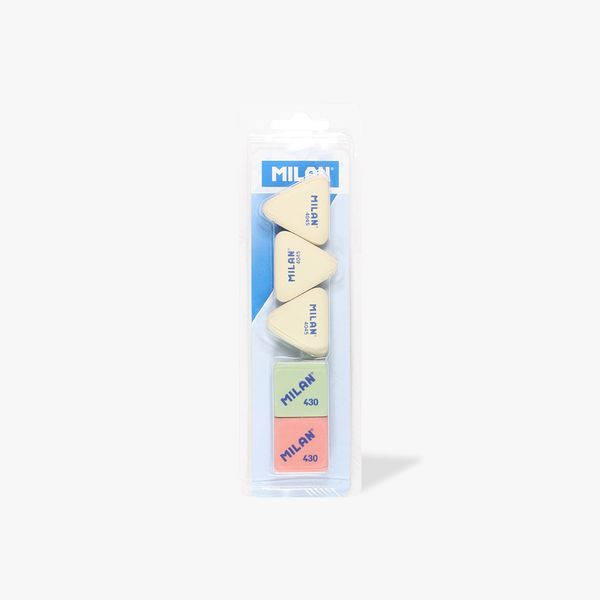 Milan Triangle erasers multi-pack