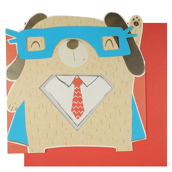 Super dad bear Father's day card