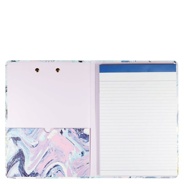 A5 Marble swirl lined padfolio