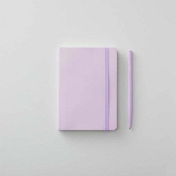 Agenzio small soft lavender lined notebook