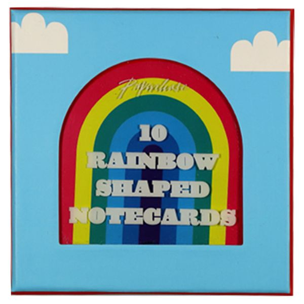 Die cut rainbow mini notecards - pack of 10
