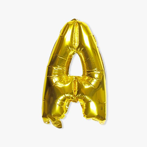 Letter A gold 16 inch balloon