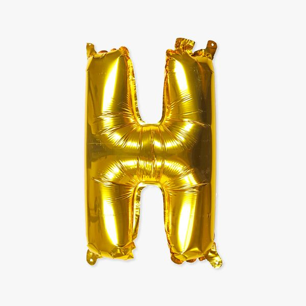 Letter H gold 16 inch balloon