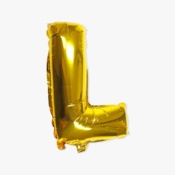 Letter L gold 16 inch balloon