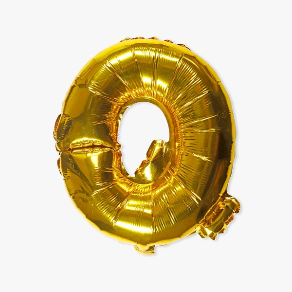 Letter Q gold 16 inch balloon