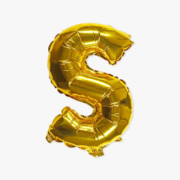 Letter S gold 16 inch balloon