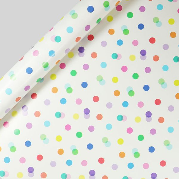 Dot and stripe wrapping paper set – pack of 10