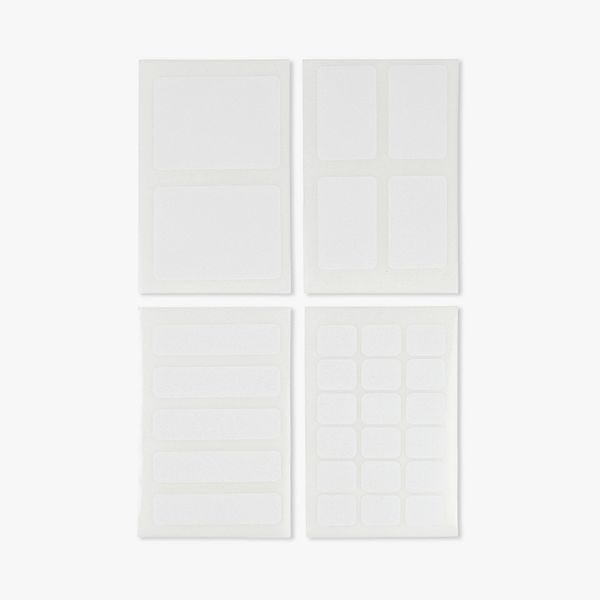 White mixed labels - 5 sheets