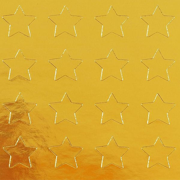Gold star labels - 5 sheets