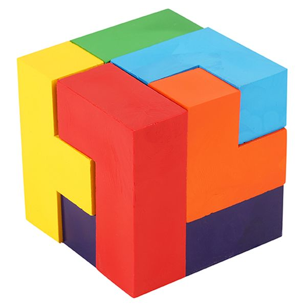 Summer Camp Puzzle crayon cube