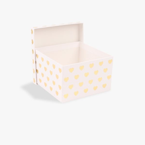 Gold foil hearts small gift box