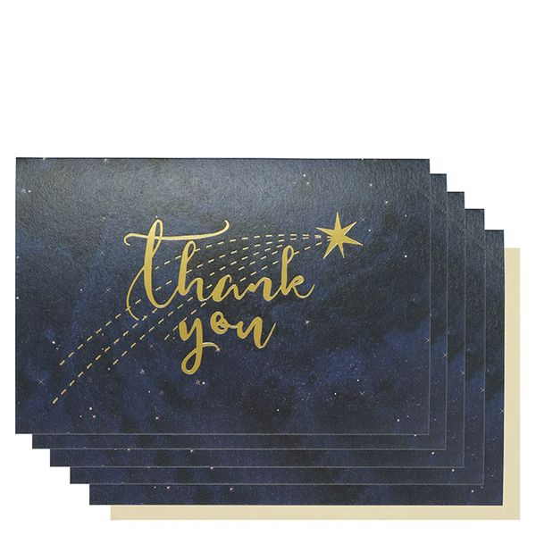 Constellations thank you cards - pack of 10