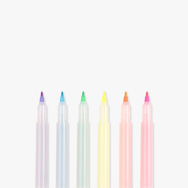 A Grader Dual end highlighters - pack of 6