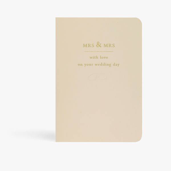 Mrs and Mrs with love wedding card