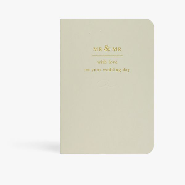 Mr and Mr with love wedding card