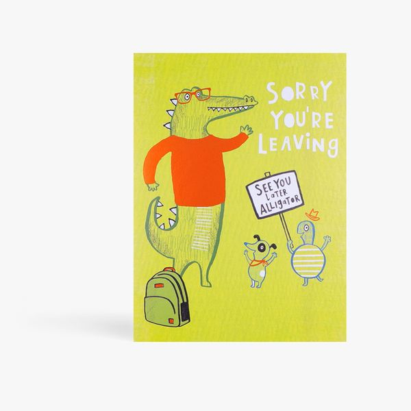 See you later alligator leaving card