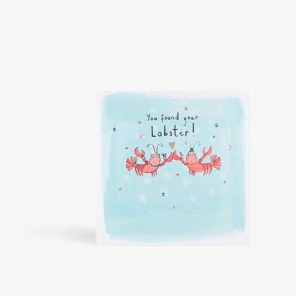 Found your lobster engagement card