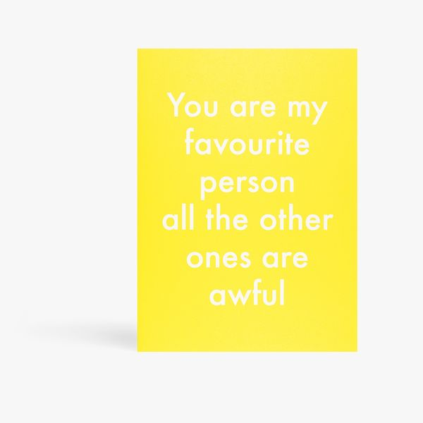 Objectables favourite person card