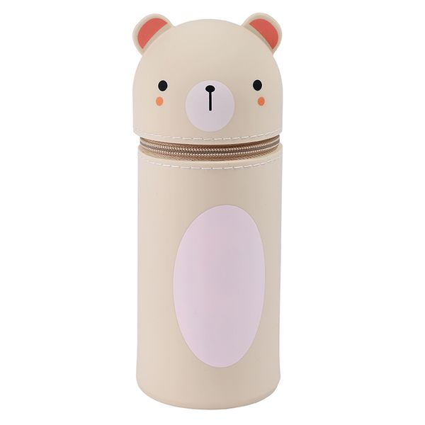 Silicone bear standing pencil case