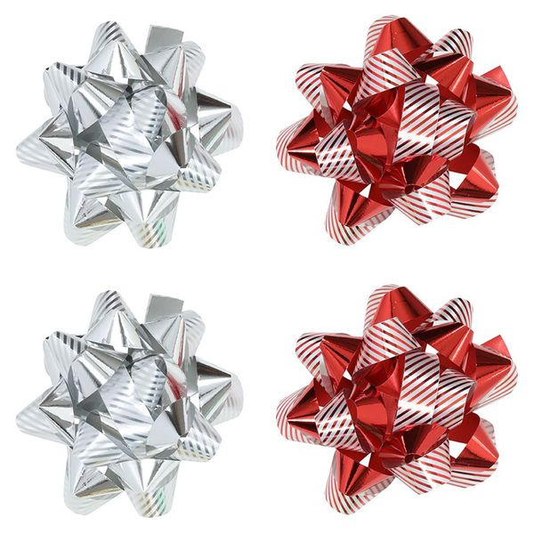 Candy stripe mixed bows - pack of 4