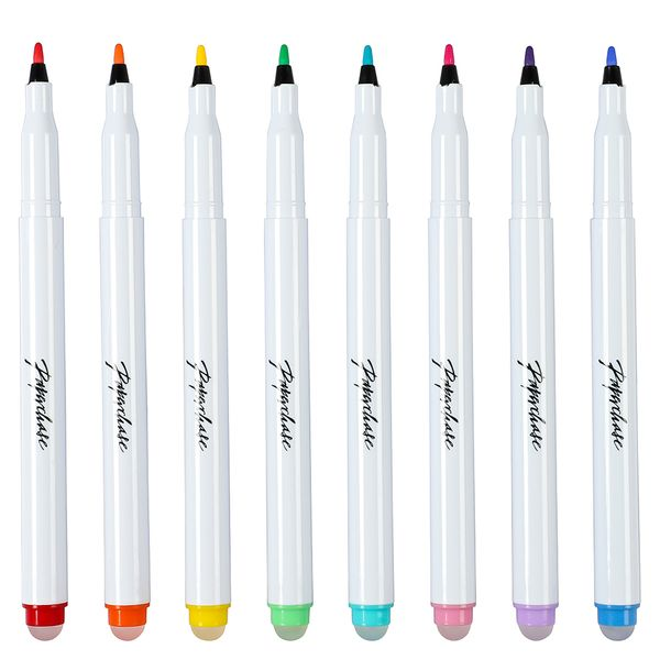 Erasable colour markers - pack of 8
