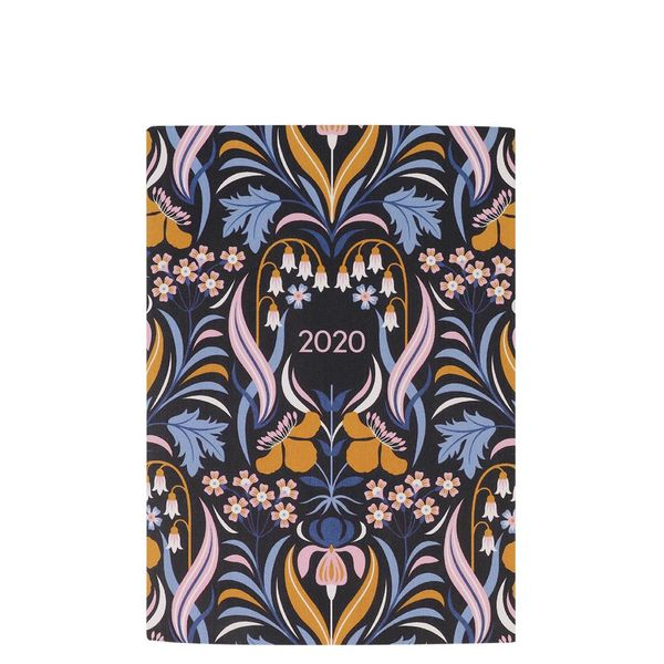 A5 blue floral week to view 2020 diary