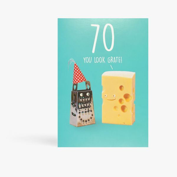 Say Cheese you look great 70th card