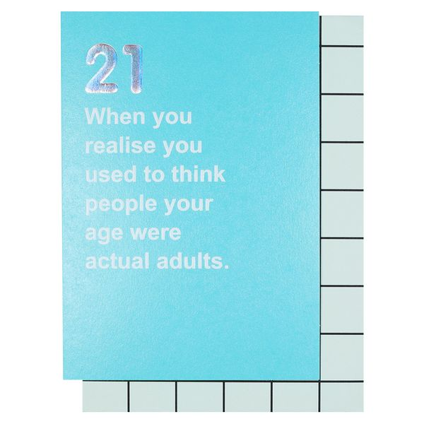 Actual adults 21st birthday card